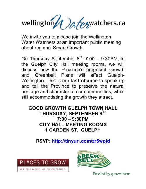 Good Growth Guelph Town Hall notice